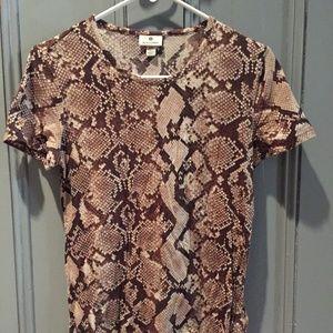 Altuzarra for Target Snakeskin Fitted T-Shirt